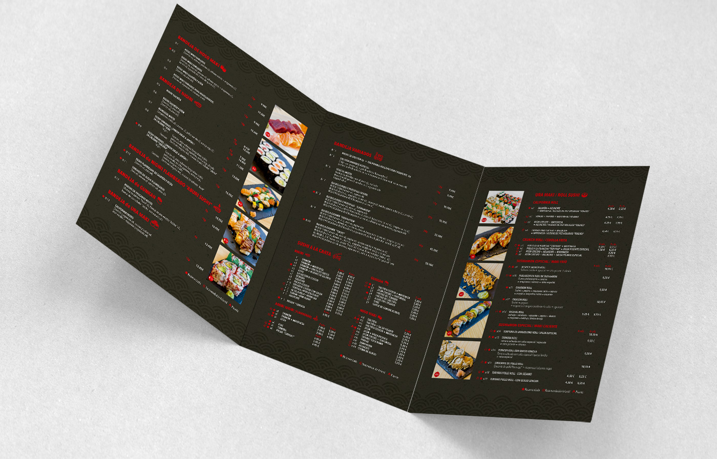 Sushi e Mon - Menú design