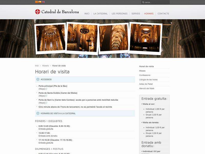 Catedral de Barcelona - Web