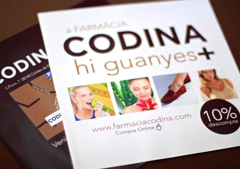 Farmacia Codina - Disseny díptics Gasulla Comunicació