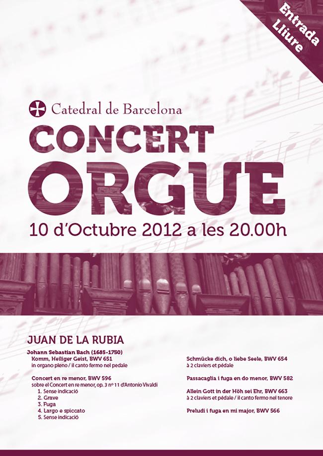 Catedral de Barcelona · Concert Orgue