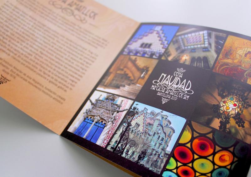Díptico - Casa Amatller - Diseño gráfico - Gasulla Comunicació