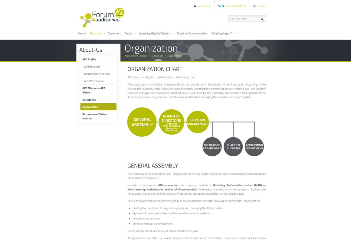 Forum Auditorias · Disseny web